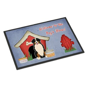 Dog House Bernese Mountain Dog Doormat
