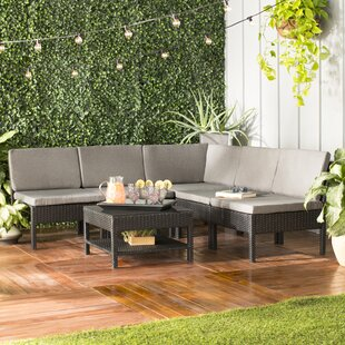 Maryann Patio Garden 6 Piece Sectional Seating Group with Cushions