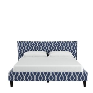Edford Seamed Crossweave Upholstered Platform Bed by Varick Gallery