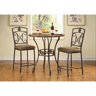 Bracamonte 3 Piece Dining Set by Fleur De Lis Living