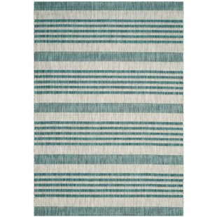 Johana Hand Tufted Grey/Blue Indoor/Outdoor Rug By Longshore Tides