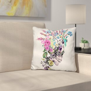 Skull Punk Throw Pillow