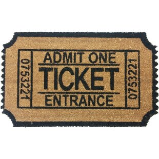 Admit One Ticket Shaped Doormat by Coco Mats N More