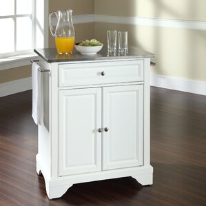 Abbate Kitchen Cart with Stainless Steel Top by Darby Home Co