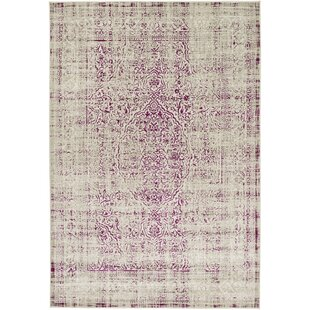 Read Reviews Anil Light Gray/Purple Area Rug By Bungalow Rose