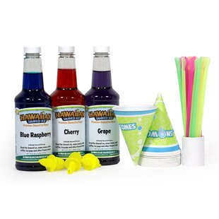 Shaved Ice and Snow Cone Syrups, 3-Flavor Fun Pack