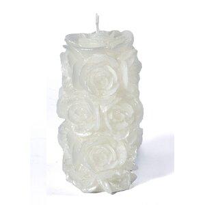 2 Piece Romanza Rose Pillar Set (Set of 2)