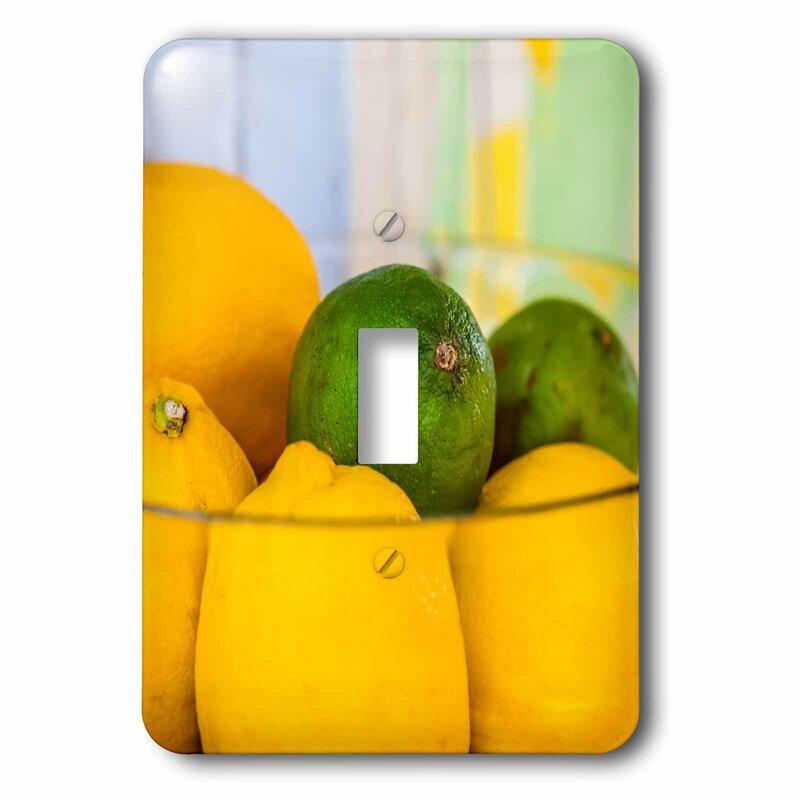 3drose Lemons And Lime 1 Gang Toggle Light Switch Wall Plate Wayfair