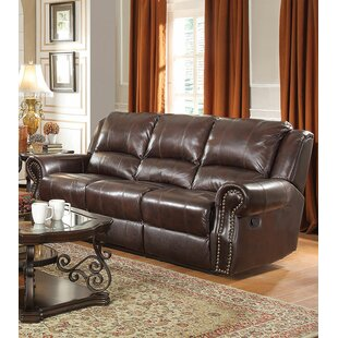 Affordable Lidiaídia Leather Reclining Sofa by Red Barrel Studio Reviews (2019) & Buyer's Guide