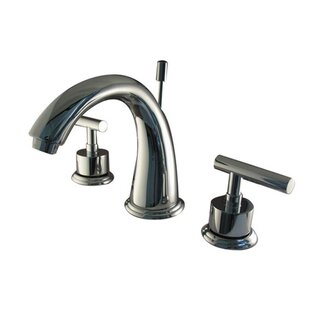 Kingston Brass Manhattan Widespread Bathroom Faucet with Brass Pop-up