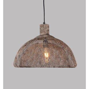 Best Reviews Jamar 1-Light Dome Pendant ByWilliston Forge