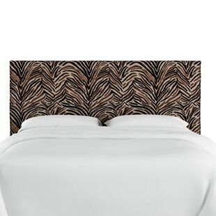 Genevie Slipcover Washed Zebra Upholstered Panel Headboard by Bloomsbury Market