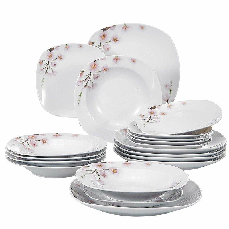 Malacasa Annie 18 Piece Dinnerware Set Service For 6 Wayfair
