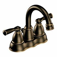 Moen Banbury Two Handle Centerset High Arc Bathroom Faucet with Optional Pop-Up Drain Image