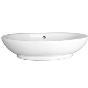 Reviews Infinity Vitreous China Oval Vessel Bathroom Sink with Overflow By Barclay
