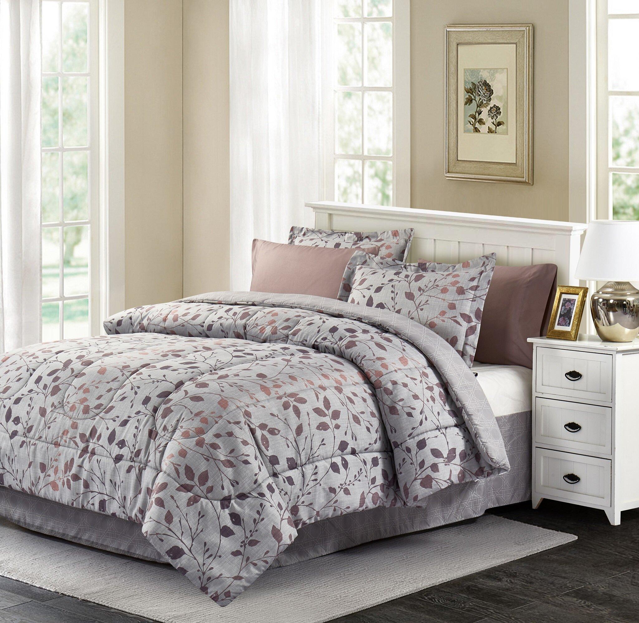 Charlton Home Bivins Reversible Comforter Set Reviews Wayfair