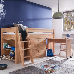 Tess European Single Mid Sleeper Bed With Furniture Set By Harriet Bee