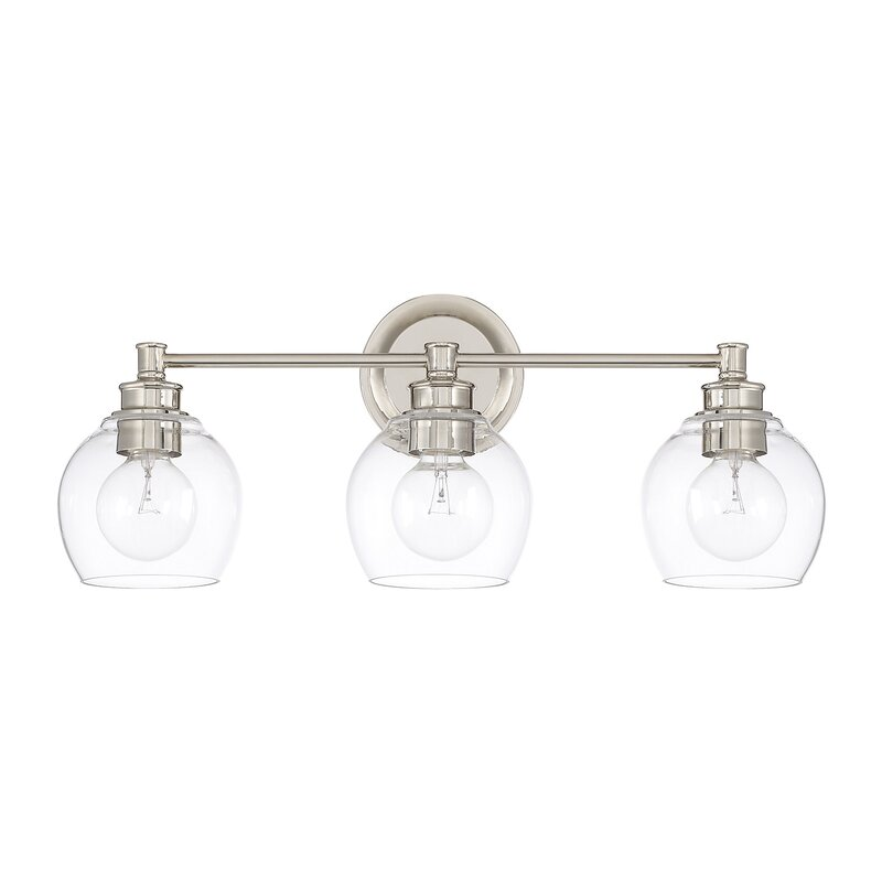 Langley Street Maria 3-Light Vanity Light with Clear Glass & Reviews ...