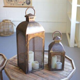 2 Piece Metal Lantern Set Wayfair