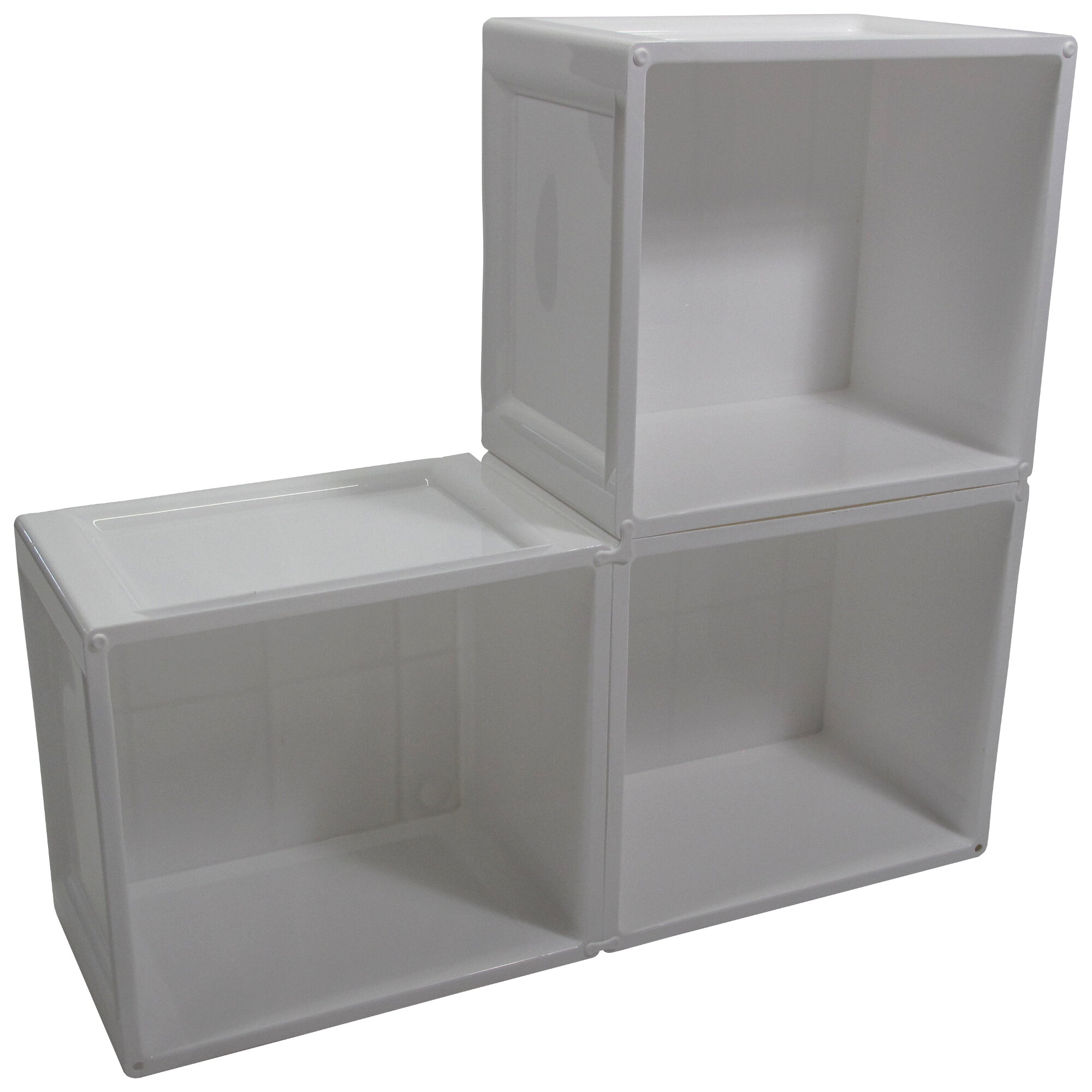 Rebrilliant Cube Wall Storage Plastic Tubs And Totes Wayfair
