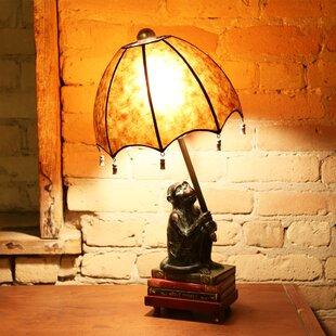 "Look for Crites Intellectual Monkey 21.75""H Table Lamp By Fleur De Lis Living"