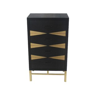 Everly Quinn Fairhaven 4 Drawer End Table
