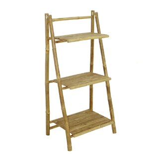 Lapta 3 Tier Bamboo Ladder Bookcase