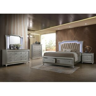 Dehon Upholstered Platform Configurable Bedroom Set