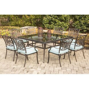 Darby Home Co Barrowman 9 Piece Dining Set