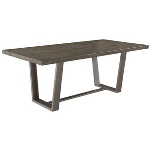 Paulsen Metal Dining Table Union Rustic