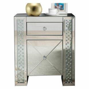 Kateri Mirrored 1 Drawer Nightstand by House of Hampton
