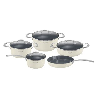 Monaco 9 Piece Non-Stick Stainless Steel Cookware Set