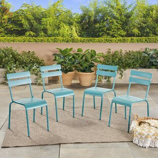 Harrigan Patio Dining Chair (Set of 4) by Ebern Designs