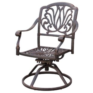 Lebanon Swivel Patio Dining Chair with Cushion