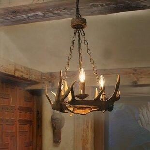 Millwood Pines Vargas 3-Light Wagon Wheel chandelier