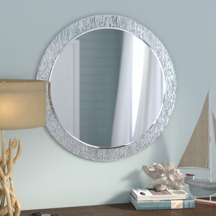 Beachcrest Home Point Reyes Molten Round Wall Mirror