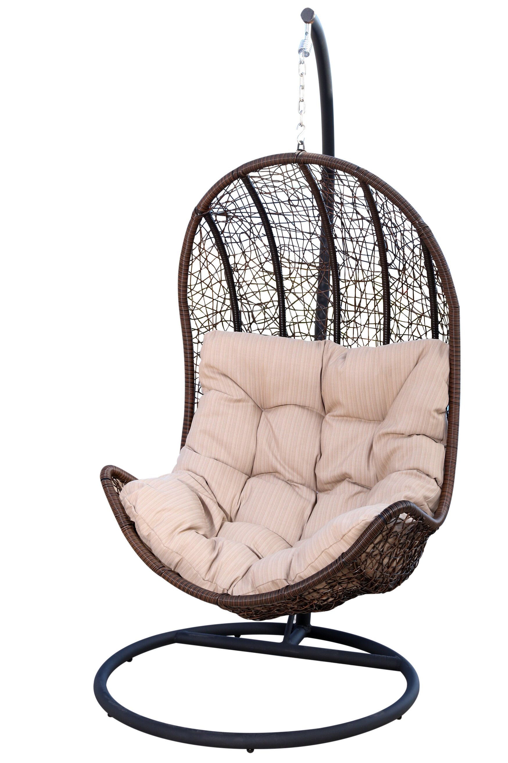 Ordinaire World Menagerie Ghazali Eggshaped Swing Chair With Stand U0026 Reviews | Wayfair