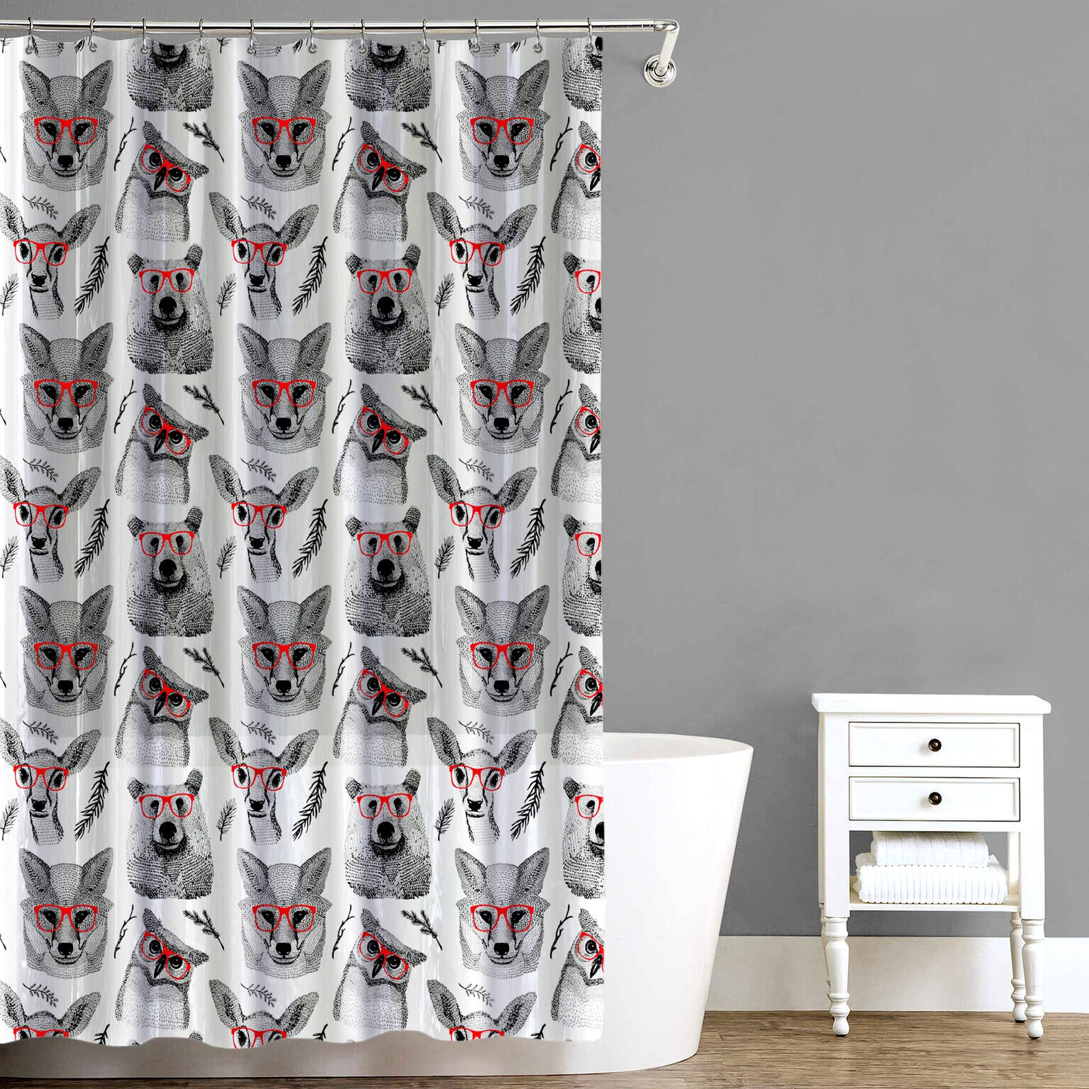 East Urban Home Woodland Creatures Shower Curtain