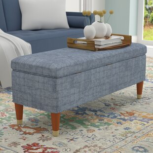Wrought Studio Rizer Upholstered Storage Bench
