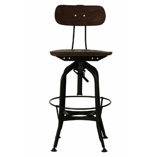 Shawmut Height Adjustable Bar Stool By Borough Wharf
