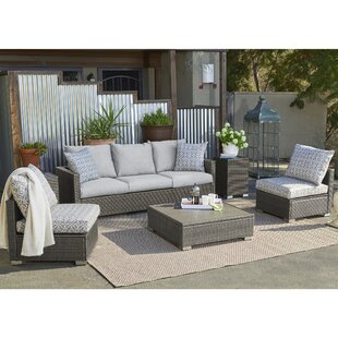 Mcmanis 6 Piece Rattan Sofa Seating Group with Cushions