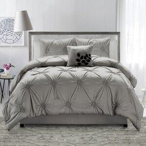 volker 4 piece comforter set - Grey Comforters