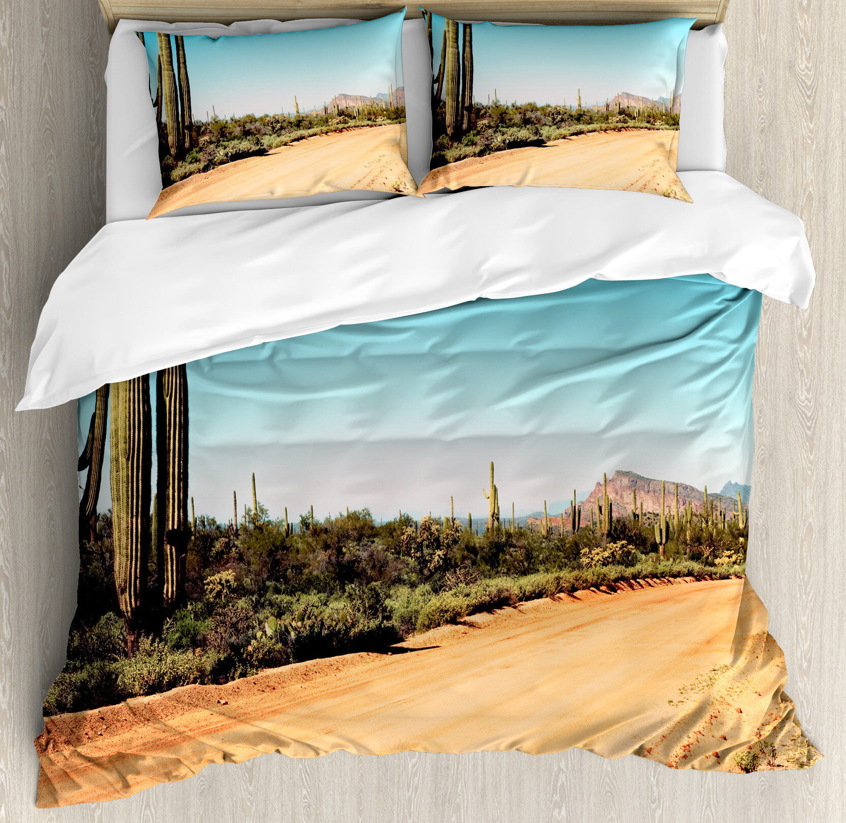 Merveilleux Ambesonne Saguaro Cactus Earth Path With Giant Cactus Plants To The South  American Desert Picture Duvet Cover Set | Wayfair