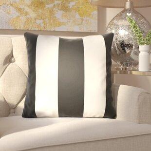 Chardae Pillow-Black & White Vertical Stripe