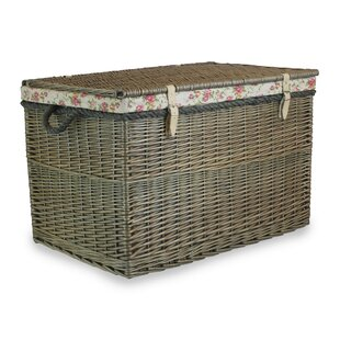 Great Deals Luciano Hamper Trunk With Garden Rose Lining