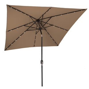 Trademark Innovations 8' Square Lighted Umbrella