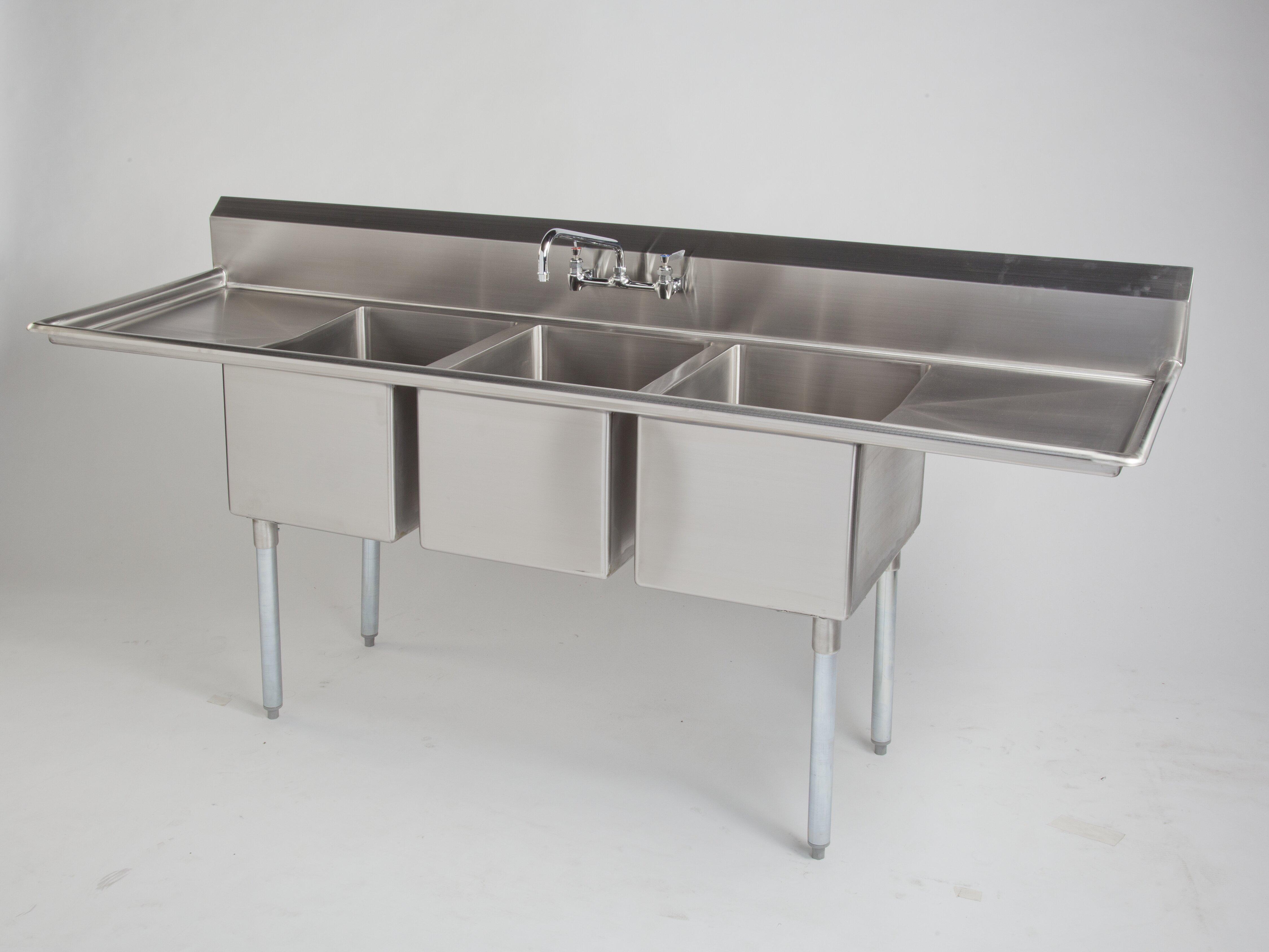 Spg Universal 43 L X 34 W Dual Mount Kitchen Sink Wayfair