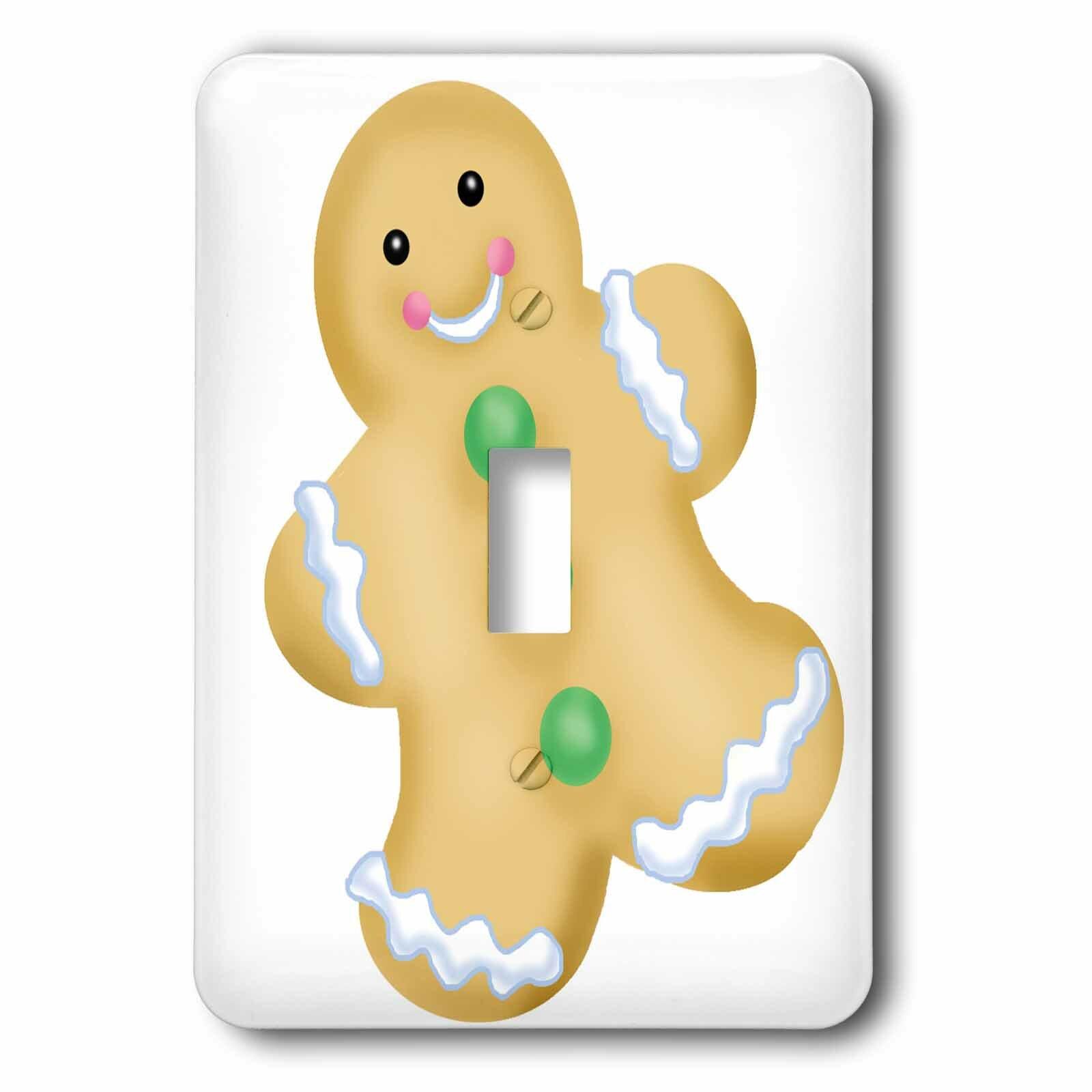 3drose Gingerbread Man 1 Gang Toggle Light Switch Wall Plate Wayfair Ca