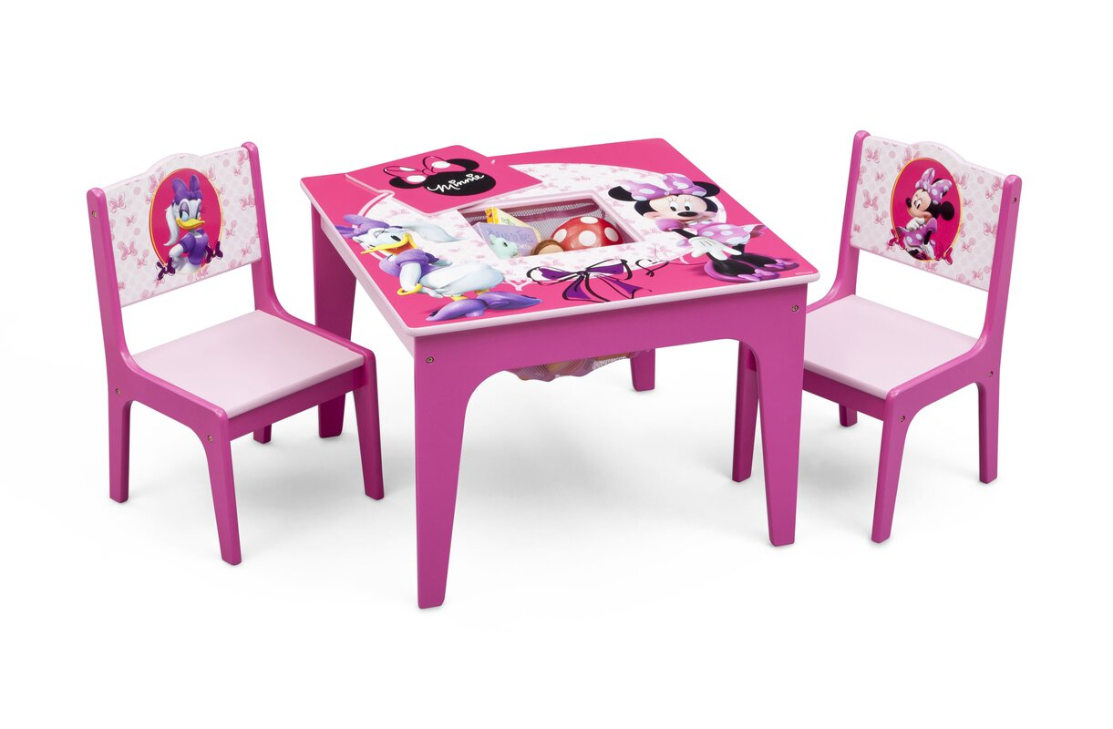Delta Children Minnie Mouse Kids 3 Piece Table and Chair Set ...