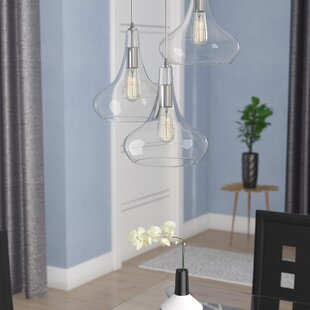 Toothman 3-Light Cluster Pendant by Brayden Studio